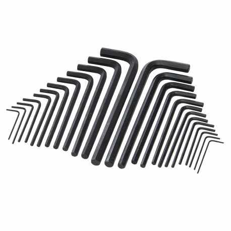 Jeu de 25 clés hexagonales série longue