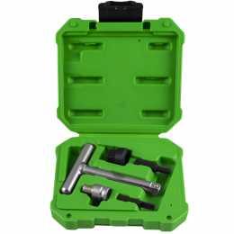 Jeu d'outils pour bouchons plastiques d'évacuation d'huile