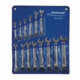 Trousse de 14 clés mixtes à cliquet à tête droite