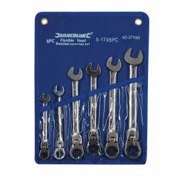 Trousse de 6 clés mixtes à cliquet à tête inclinable