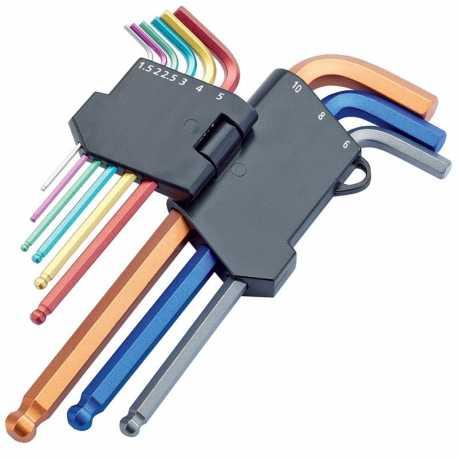 Clé Allen - jeu de 9 clés en couleur